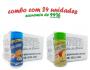 TEMPEROS P/ PIPOCA - Cx 24 FRASCOS - 12 CHEDDAR - 12 TOMATE E QUEIJO