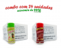 TEMPEROS P/ PIPOCA - Cx 24 FRASCOS - 12 ERVAS FINAS  - 12 CALABRESA