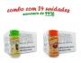 TEMPEROS P/ PIPOCA - Cx 24 FRASCOS - 12 ERVAS FINAS  - 12 FRANGO ASSADO