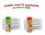 TEMPEROS P/ PIPOCA - Cx 24 FRASCOS - 12 ERVAS FINAS  - 12 PIZZA