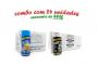TEMPEROS P/ PIPOCA - Cx 24 FRASCOS - 12 MANTEIGA - 12 FLAVAPOP MANTEIGA