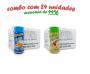TEMPEROS P/ PIPOCA - Cx 24 FRASCOS - 12 MANTEIGA - 12 TOMATE E QUEIJO