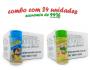 TEMPEROS P/ PIPOCA - Cx 24 FRASCOS - 12 PARMESÃO - 12 CEBOLA E SALSA