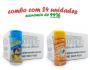 TEMPEROS P/ PIPOCA - Cx 24 FRASCOS - 12 PARMESÃO - 12 SAL POPCORN