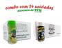 TEMPEROS P/ PIPOCA - Cx 24 FRASCOS - 12 PARMESÃO E ALHO - 12 FLAVAPOP MANTEIGA
