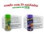 TEMPEROS P/ PIPOCA - Cx 24 FRASCOS - 12 PIMENTA E LIMÃO - 12 QUEIJO NACHO