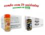 TEMPEROS P/ PIPOCA - Cx 24 FRASCOS - 12 PIZZA - 12 FLAVAPOP MANTEIGA