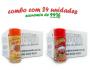 TEMPEROS P/ PIPOCA - Cx 24 FRASCOS - 12 PIZZA - 12 PRESUNTO