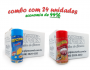 TEMPEROS P/ PIPOCA - Cx 24 FRASCOS - 12 QUEIJO - 12 PRESUNTO