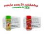 TEMPEROS P/ PIPOCA - Cx 24 FRASCOS - 12 TOMATE E QUEIJO - 12 BACON