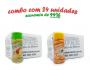 TEMPEROS P/ PIPOCA - Cx 24 FRASCOS - 12 TOMATE E QUEIJO - 12 SAL POPCORN