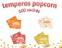 Temperos Popcorn 100 sachês. 25 Churrasco, 25 Pizza, 25 Bacon e 25  Queijo