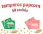 Temperos Popcorn 50 sachês. 25 Cebola e Salsa e 25 Sal do Himalaia.