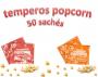 Temperos Popcorn 50 sachês. 25 Churrasco e 25 Bacon.