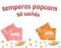 Temperos Popcorn 50 sachês. 25 Churrasco e 25 Sal do Himalaia.