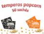 Temperos Popcorn 50 sachês. 25 Churrasco e 25 Sal Popcorn.