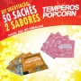 Temperos Popcorn 50 sachês. 25 Pizza e 25 Sal do Himalaia.