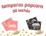 Temperos Popcorn 50 sachês. 25 Sal do Himalaia e 25 Sal Popcorn.