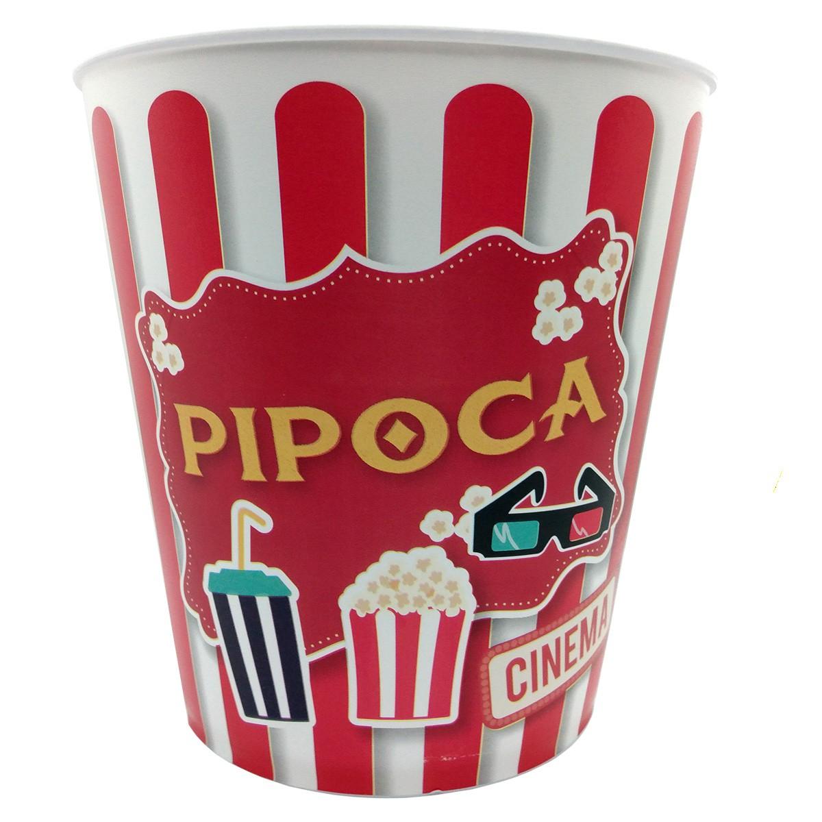 Balde de Pipoca - cinema em casa