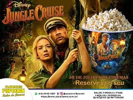 Baldes de Pipoca Jungle Cruise - 5 litros (caixa c/ 10 unidades)