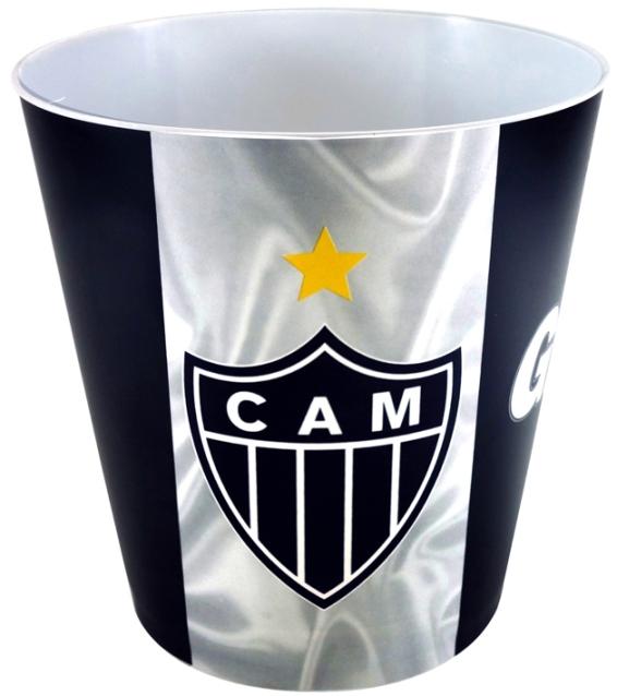 Balde de pipoca do Atlético Mineiro + 3 pipocas de micro-ondas