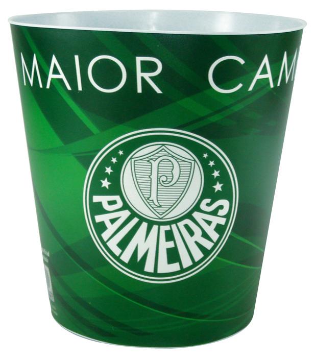 Balde de pipoca do Palmeiras + 3 pipocas de micro-ondas