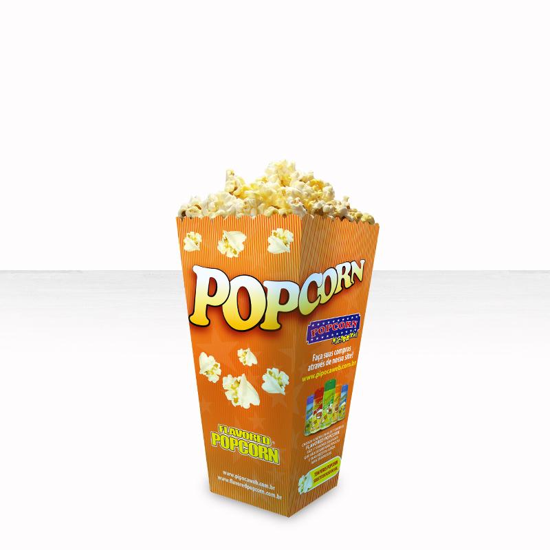 Embalagem Cinema Popcorn BOX - JUNIOR (Pequena) - Pacote c/ 25 unidades
