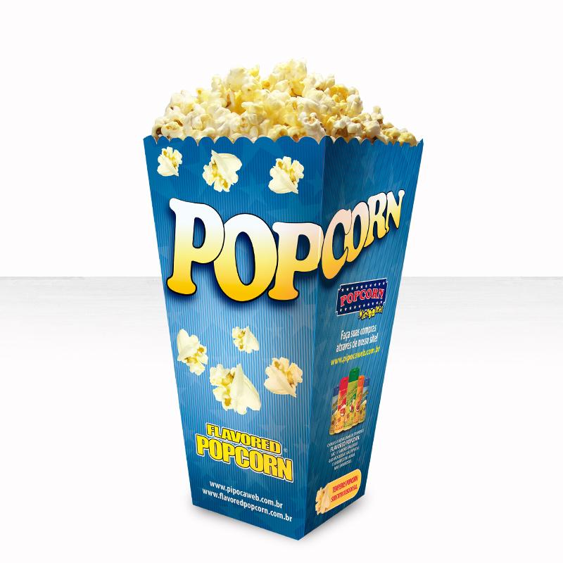 Embalagem Cinema Popcorn BOX SUPER (Grande) - Pacote c/ 25 unidades