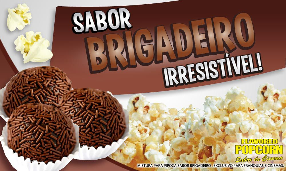 Caramelos e Sabores p/ Pipoca Doce - sabor Brigadeiro - 1kg