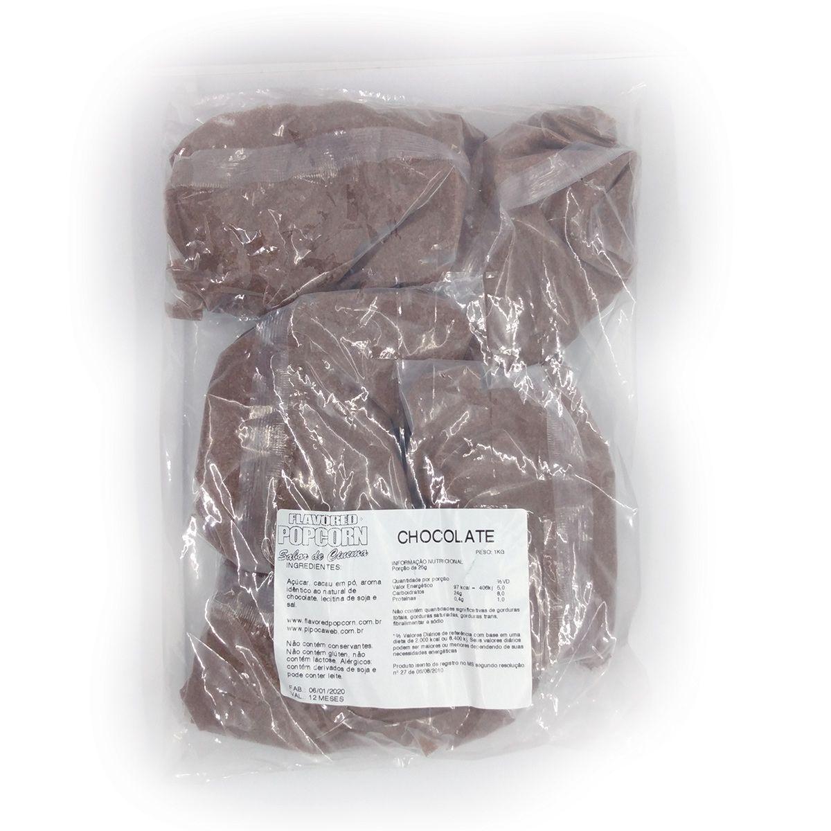 Caramelos p/ Pipoca Doce - sabor Chocolate - 1kg