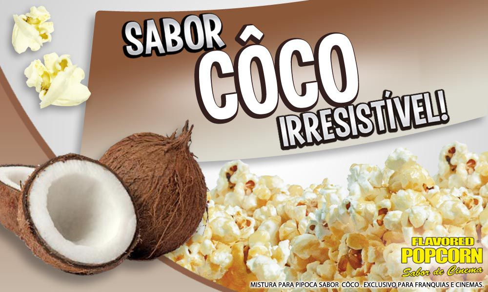 Caramelos p/ Pipoca Doce - sabor Coco - 1kg