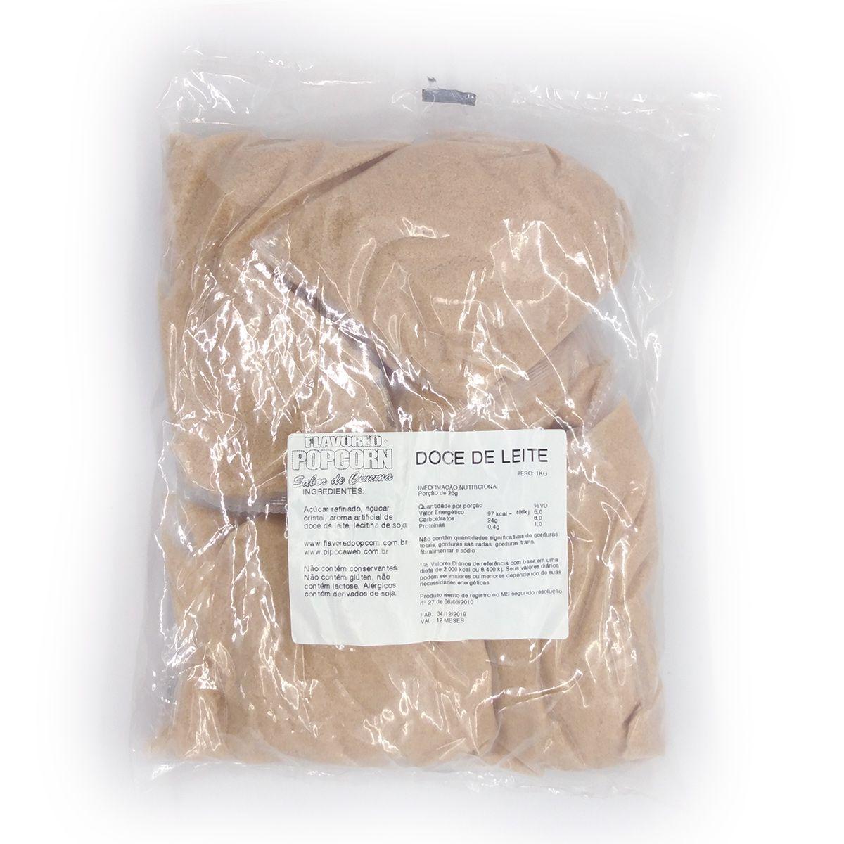 Caramelos p/ Pipoca Doce - sabor Doce de Leite - 1kg