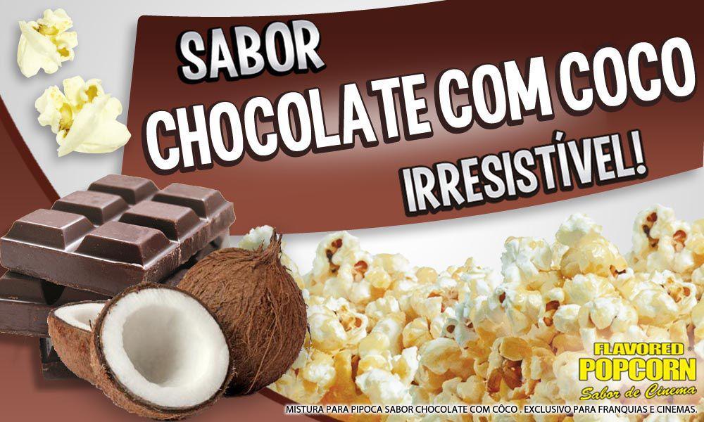 Caramelos e Sabores p/ Pipoca Doce - Chocolate e Coco - 1kg