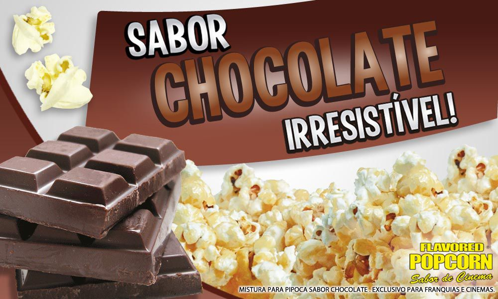 Caramelos e Sabores p/ Pipoca Doce - Chocolate - 1kg