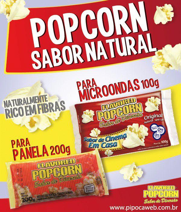Pipoca de Microondas Natural - Cx c/ 12 Bags