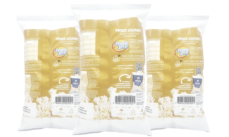 Combo 3 Un. Pipocas Gourmet Sabor Manteiga - 40g