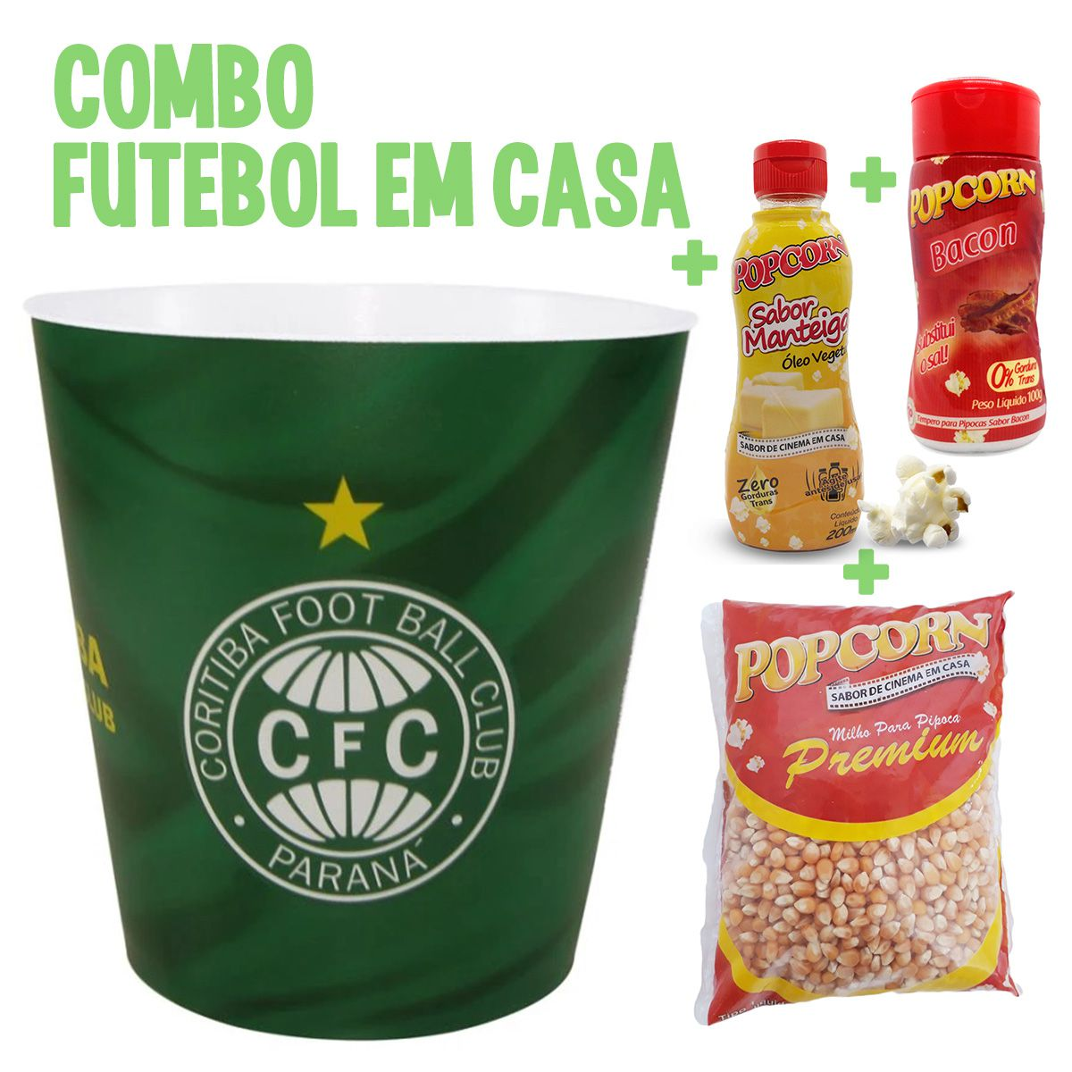 Combo Futebol em Casa + Balde do Coritiba.