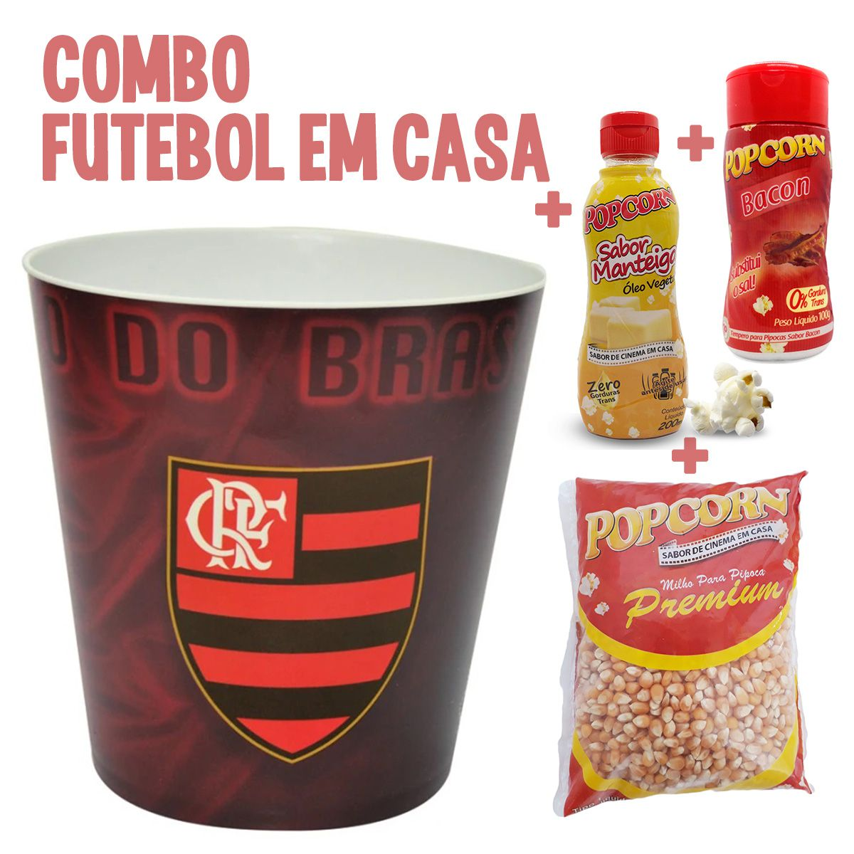 Combo Futebol em Casa + Balde do Flamengo