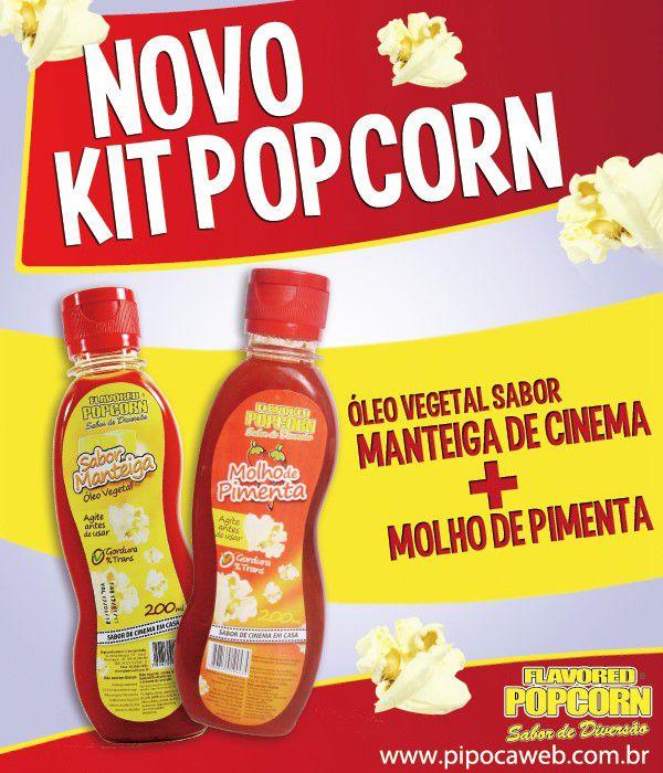 Combo nº 7 - Pimenta e Limão, Molho Mexicano e Sal Popcorn Original (Mais 100g milho de pipoca)