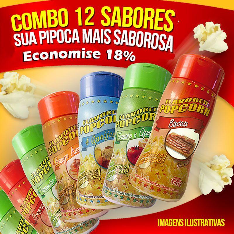 Combo nº14. 12 Sabores de tempero Popcorn.