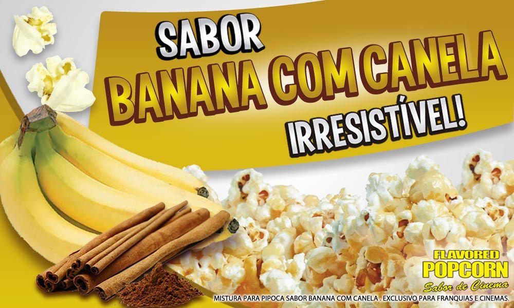 Caramelos e Sabores p/ Pipoca Doce - sabor Banana c/ Canela - Pct 1kg