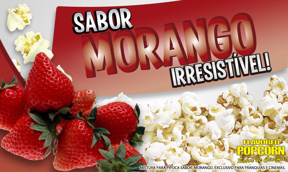 Caramelos e Sabores p/ Pipoca Doce - Morango - 1kg
