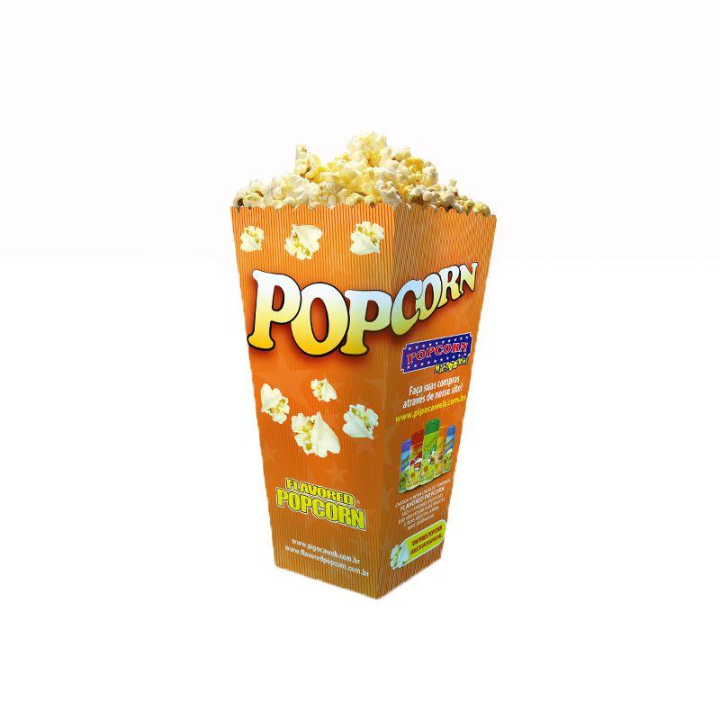 Embalagem Cinema Popcorn BOX - JUNIOR (Pequena) - Pacote de 25 unidades.