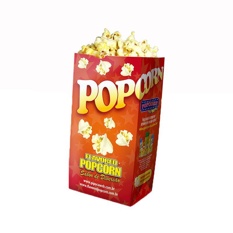 Embalagens de Cinema sacos p/ Pipoca SOS - POP (Médio) - Pacote c/ 25 - 100 - 500 un