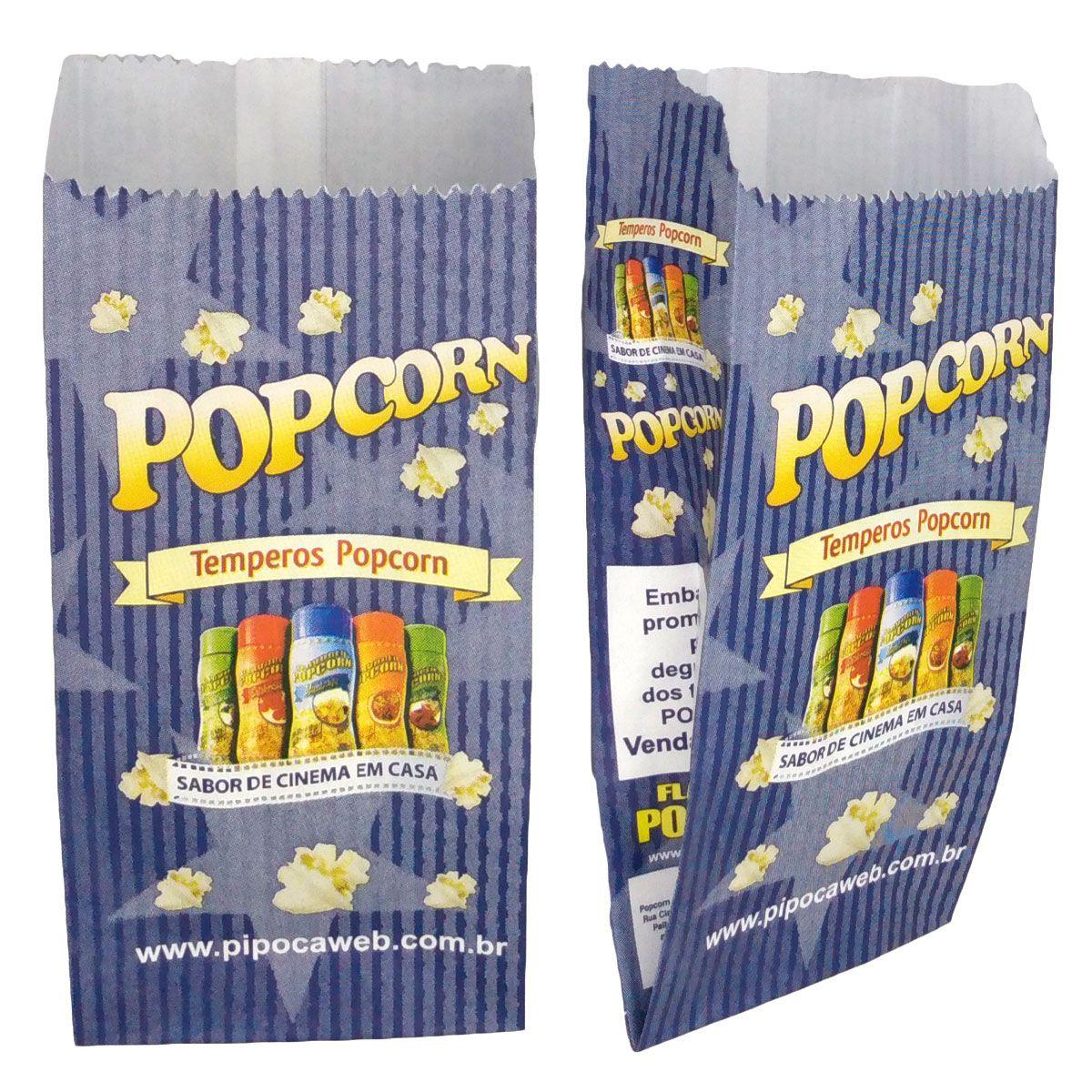 Embalagens Saquinhos p/ Pipoca (Degustação) - MINI - Pct c/ 25 - 100 - 500 un