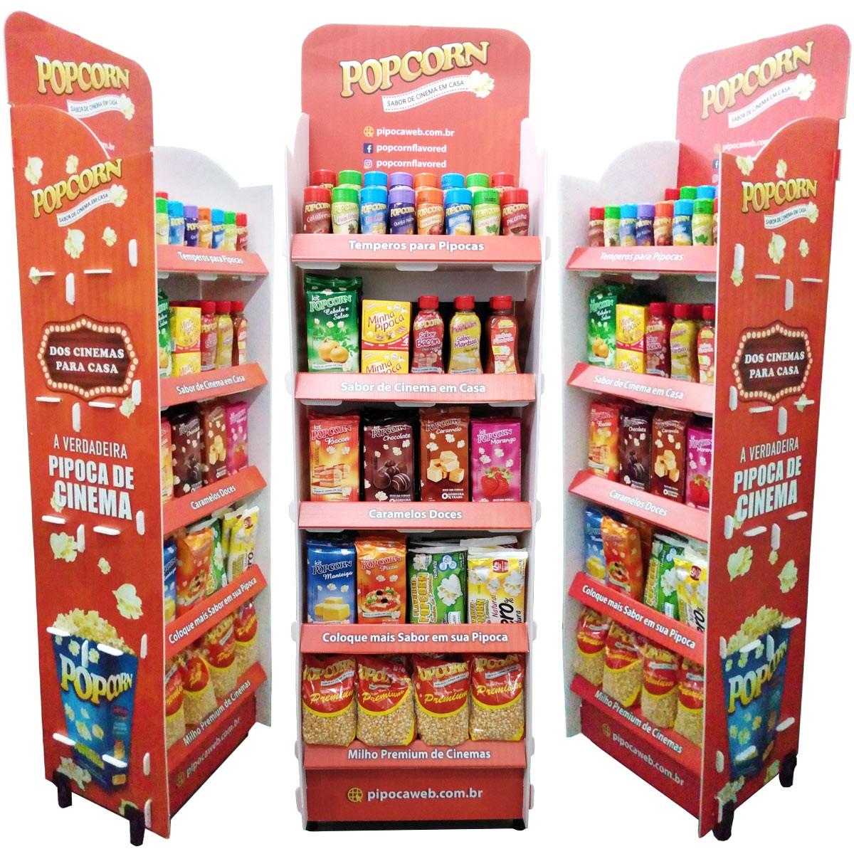 Expositor de produtos Popcorn - Display de chão