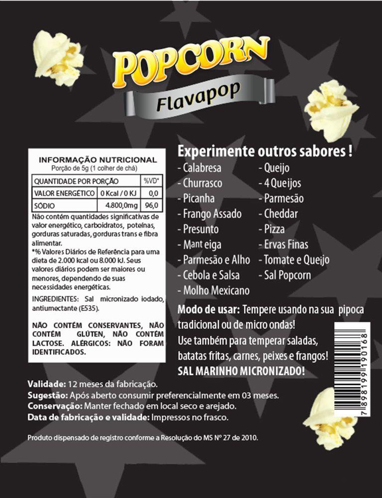 FLAVAPOP - Original de Cinema - Sal Micronizado Popcorn - segredo da Pipoca dos Cinemas.