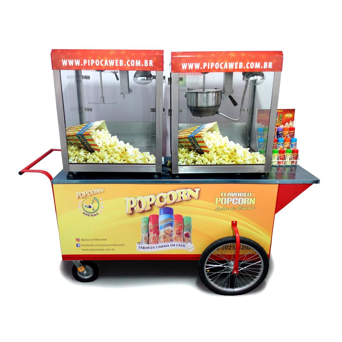 Micro Franquias Popcorn - Carrinho móvel com pipoqueiras elétricas MPG