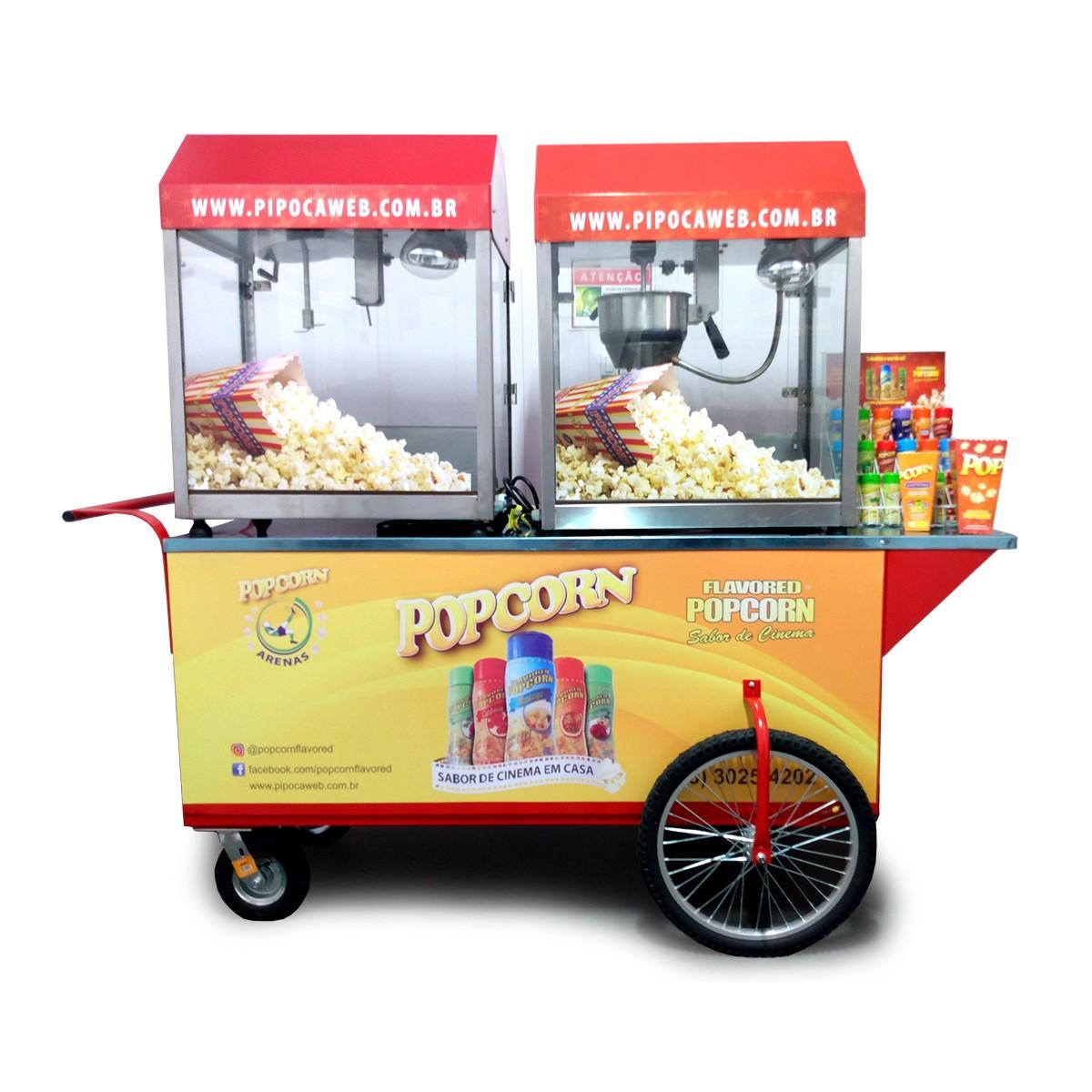 Micro Franquias Popcorn - Carrinho móvel com pipoqueiras elétricas MPP