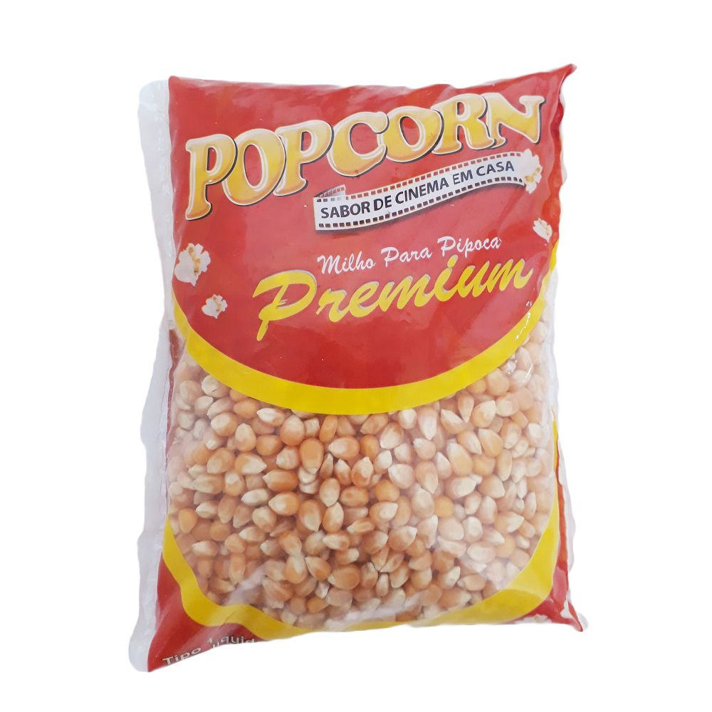 Milho de Pipoca Premium POPCORN -  Pct 500g - Alta expansão